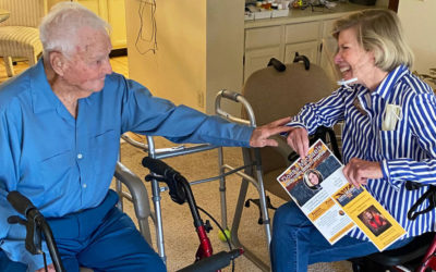 "Donna Visits with Centenarian Supporter H.B. ""Boots"" Claunts"